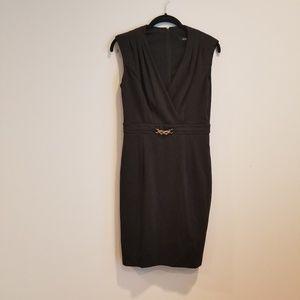 Ellen Tracy Mock Wrap Work Dress